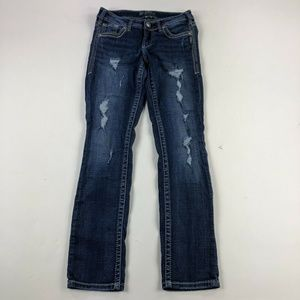 Silver Jeans Jeans - Silver Aiko Straight Dark Wash Jeans